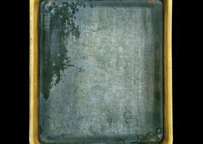 Sally Mann's Developer Tray, 2011. Framed pigment print mounted