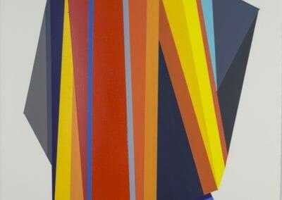 Rachel Hellmann, Propel, 2016, Acrylic on paper, 15 x 11 in