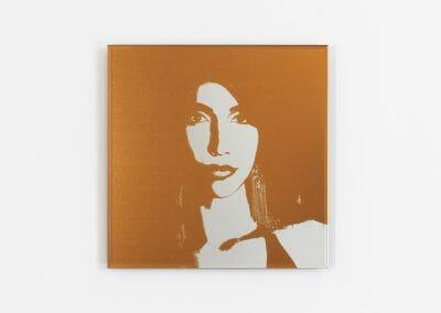 Lais Pontes, Gloria, 2016, UV Print direct on Mirror, 11 13/16 x 11 13/16 inches