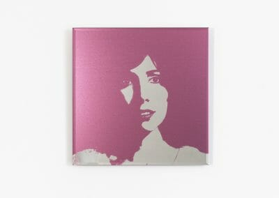 Lais Pontes, Mary Alice, 2016, UV Print direct on Mirror, 11 13/16 x 11 13/16 inches