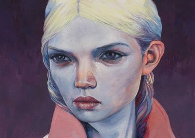 Schletterer, Silas, Alix Saigen, 2017, Oil paint and acrylic paint on canvas, 35 2/5 x 27 3/5 in. (89.9 x 70.1 cm)