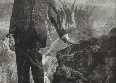 Teske, Edmund, Kenneth Anger + Dürer 'Ascension', 1954, Vintage Silver Gelatin Print, 6 3/4 x 4 3/4 in. (17.1 x 12.1 cm)