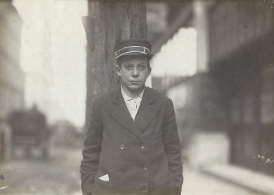 Lewis Hine, Child from Hull House, Chicago, c. 1910, Gelatin silver print, 4 5/8 x 7 1/7 in., contact gallery for price