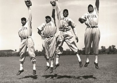 Mickey Pallas, Harlem Globetrotters Baseball Team, 1949, Gelatin silver print, 9 3/4 × 9 3/4 in, contact gallery for price
