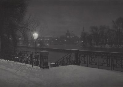 Josef Sudek, Untitled (Prague), c. 1950, Gelatin silver print, 4 1/8 × 7 3/4 in (10.5 × 19.7 cm), contact gallery for price