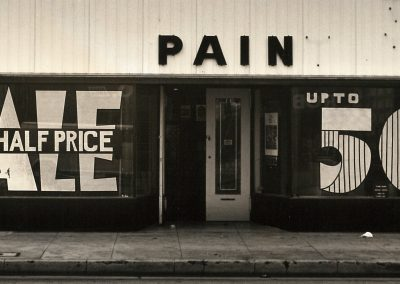 Arthur Taussig, Untitled (Pain), 1983, Silver gelatin print, 4 × 8 in (10.2 × 20.3 cm), contact gallery for price
