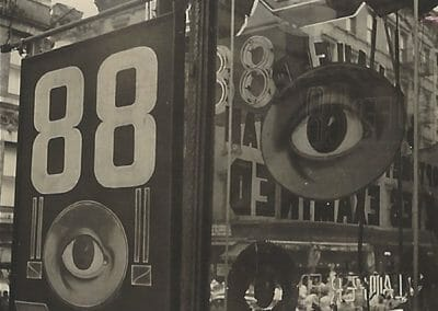 Bill Witt, The Eye, 1947, Gelatin silver contact print, 2 5/8 × 2 1/4 in (6.7 × 5.7 cm), $3,500