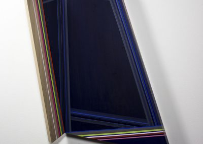 Rachel Hellmann, Backsplice, 2015, Acrylic on board, 21 × 16 × 4 inches