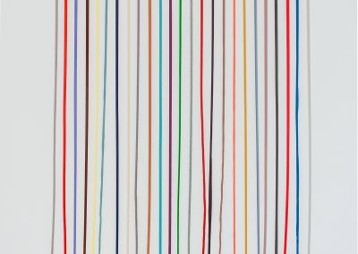Scott Ingram, Latex Dreams, 2016, Nail polish on canvas 50 × 42 in. (127 × 106.7 cm)