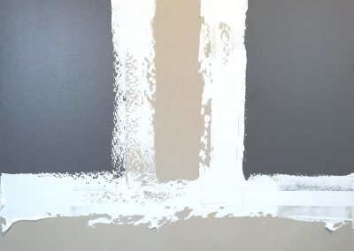 Scott Ingram, Untitled #26, 2014, Latex, gesso and marble dust on canvas, 40 × 48 in. (101.6 × 121.9 cm)