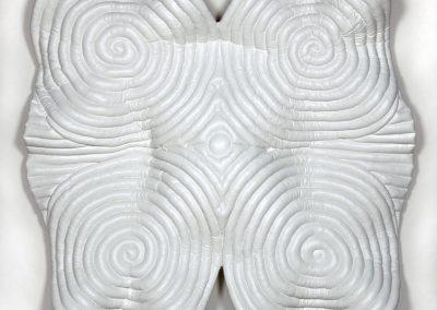 Stephanie Patton, Strength, 2013, Vinyl, battling, muslin, 79 × 79 × 15 in. (200.7 × 200.7 × 38.1 cm)