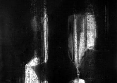 Aaron Siskind, West Street, 1950, Gelatin silver print, 16 x 20 in. (40.6 x 50.8 cm)
