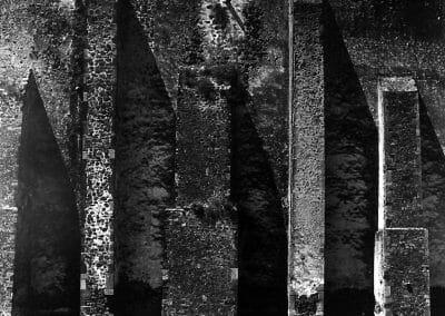 Aaron Siskind, Acolman 2, 1955, Gelatin silver print, 16 x 20 inches