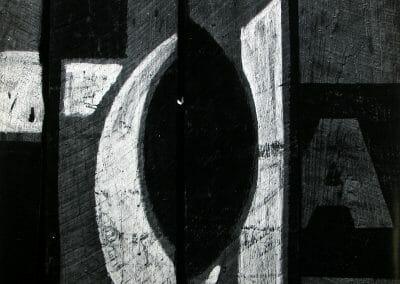 Aaron Siskind, Kentucky, 1951, Gelatin silver print, 13 1/8 x 16 1/4 inches