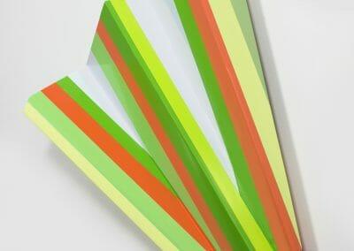 Rachel Hellmann, Notation, 2017, Acrylic on poplar wood, 30 x 23 x 7 inches
