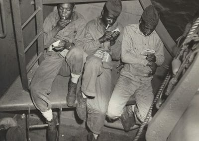 Anonymous, Three Black Marines (WWII US Navy), 1940, Gelatin silver print, 7 5/8 x 9 1/2 in., contact gallery for price