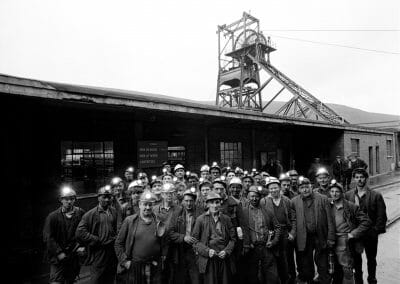 Bruce Davidson, GB. Wales, 1965, Portrait of a group of miners, c. 1965, Gelatin silver print, 6 3/4 × 8 1/2 in (17.1 × 21.6 cm), contact gallery for price