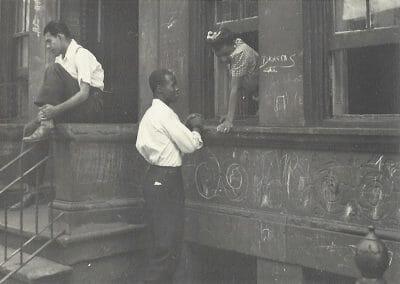 Helen Levitt, NYC (Boy in window), c .1940, Gelatin silver print, 2 1/2 x 3 1/2 in., contact gallery for price