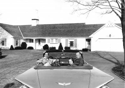 Mickey Pallas, Buick Convertible and Family, Chicago, 1959, Gelatin silver print, 14 x 11 in., contact gallery for price