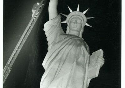 Weegee, Statue of Liberty, 1940, Silver gelatin print, 6 1/2 in x 10 1/2 in.