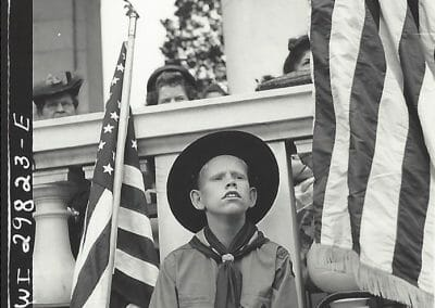 Esther Bubley, Arlington Cemetery (Boy), 1943, OWI, Gelatin silver contact print, 2 1/4 x 2 1/4 in., contact gallery for price
