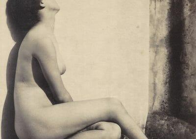 Vincenzo Galdi, Female Nude, c. 1890 - 1910, Albumen print, 8 3/4 x 6 5/8 in., contact gallery for price