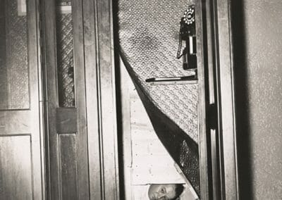 Weegee, Telephone Booth, New York, c. 1940, Vintage Silver Gelatin Print, 8 1/2 x 6 1/4 in.