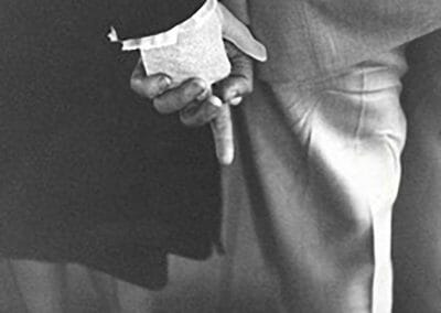 Louis Faurer, Freudian Hand Clasp, 1947, Gelatin silver print, Printed in 1981 by photographer, 14 in x 11 in, contact gallery for price