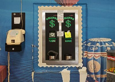 Mark Lyon, Emerald Green Laundromat, Change Machine, 2010, Archival pigment print, 43 x 30 inches
