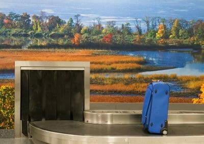 "Mark Lyon, Stewart Airport, Baggage Claim A, 2008, Archival pigment print, 16"" x 24"""