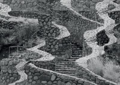 Nico Krijno, Stairway, 2016, Inkjet print on photorag paper, 23 3/8 x 19 inches