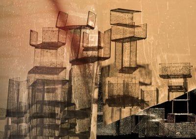 Nico Krijno, Wet Stacks, 2018, Inkjet print on photorag paper, 25 1/2 x 30 3/8 inches