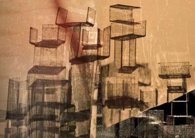 Nico Krijno, Wet Stacks, 2018, Inkjet print on photorag paper, 25 1/2 x 30 3/8 in