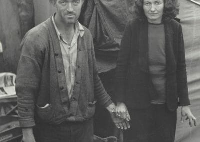 Horace Bristol, Grapes of Wrath - Family Album, 1938, Limited edition of 12 Vintage gelatin silver prints, printed later, 7 x 5 3/4 in., Signed by artist in pencil on verso. Images of the Joad Family Photographed with John Steinbeck