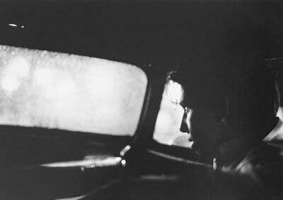 "Larry Clark, Untitled (Boy in Car), 1963, Silver gelatin print, printed in 1980, 8 2/16 x 12 5/16 in., Photographer's signature in pencil, annotated ""17"" in pencil on verso."