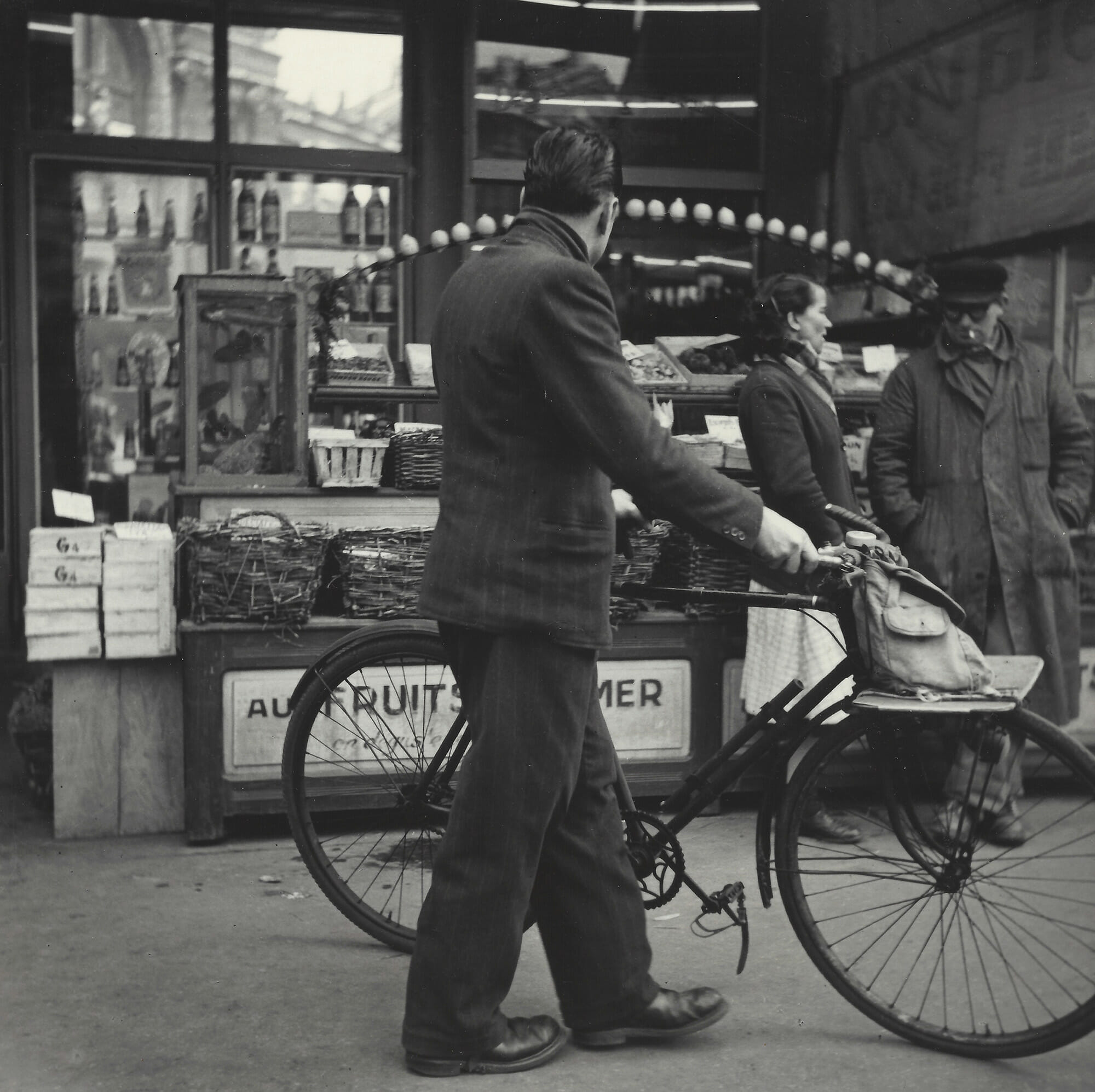 "Rosalie Gwathmey, Paris, 1950, Vintage silver gelatin print, 7 1/2 x 7 1/2 in., Photographer's signature and title in pencil, Photographer's N.Y.C. stamp, The New York Public Library stamp, The New York Public Library - Picture Collection stamp with notations in pencil, annotated ""RG67"" in pencil on verso."
