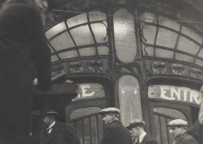 "Else Thalemann, No.525 Metro Entrance, c. 1946, Vintage silver gelatin print, 8 13/16 x 6 11/16 in., Photographer's label: No. 525 ""Metro entree"" Photo: Thalemann on verso."