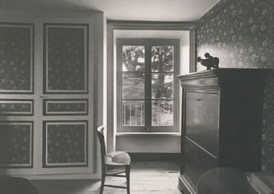 "Jack Welpott, Chez Thiollier, 1981, Vintage silver gelatin print, printed in 1983, 9 x 11 3/8 in., Signed, titled and dated by artist in pencil on recto. Signed by artist in pencil: annotated ""JW-001"" on verso."