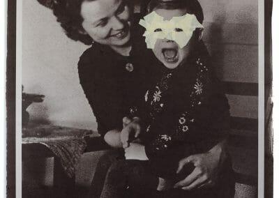 Daniel Coburn, Primal Scream, Salted Paper Print and Mixed Media, 20 x 30 in.
