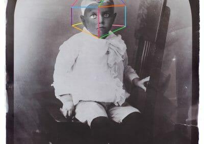 Daniel Coburn, Sanctuary, Salted Paper Print and Mixed Media, 24 x 36 in.