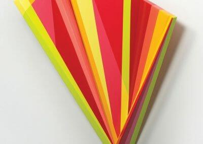 Rachel Hellmann, Air Glide, 2018, Acrylic on poplar wood, 28 x 24 x 7 in.