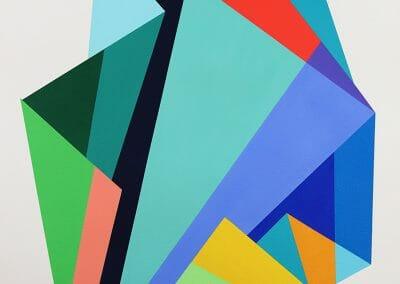 Rachel Hellmann, Equilibrium, 2019, Acrylic on paper, 41 x 29 in.