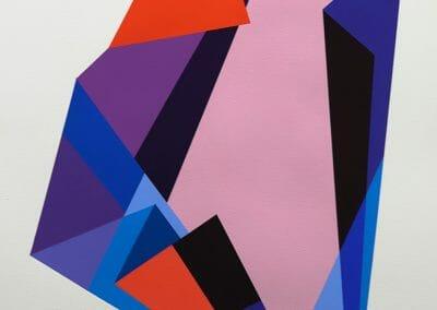 Rachel Hellmann, Magnify, 2019, Acrylic on paper, 41 x 21 in.