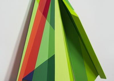 Rachel Hellmann, Blaze, 2018, Acrylic on poplar wood, 26 x 21 x 7 in.
