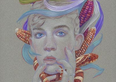 Mother Popcorn, 2019, Color pencil on paper, 12 x 9 inches