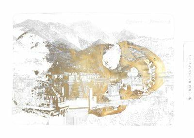F & D Cartier, Carrara Ruse, 2014, Ultrachrome K3 pigment inkjet print, 15 x 22 inches