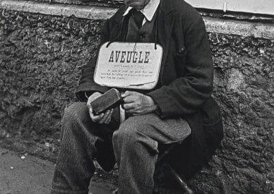 Lisette Model, Blind Man, Paris, 1937, Gelatin silver print; printed 1976, 19 1/2 x 15 3/4 inches