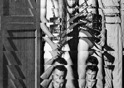 Edouard Taufenbach, La garniciòn, 2019, Collage on Canson paper, 16 x 11 inches
