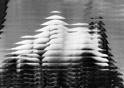 Edouard Taufenbach, Venus à la fourrure, 2019, Collage on Canson paper, 14 1/2 x 19 inches