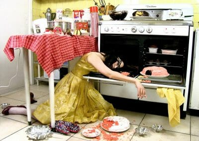 Daniela Edburg, Death by Cake, 2005, Archival ink print, Edition 7 of 7 + 1 AP, 15 x 20 inches
